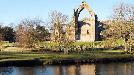 The picturesque ruins of Bolton Abbey