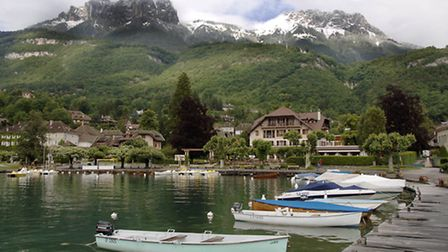 A peaceful spot on Lake Annecy