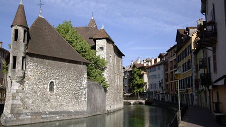 The historic lakeside town of Annecy