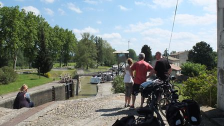 Cycling along the Canal du Midi at a leisurely pace