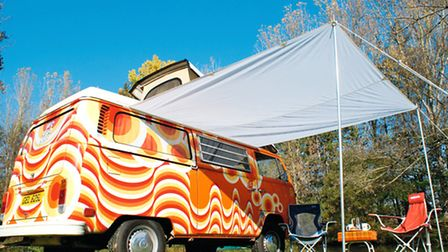 The family hire out colourful camper vans equipped with all the necessities © WeDubYou