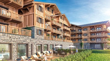 This computer-generated image shows how Les Chalets de Laÿssia in Samoëns will look in summer