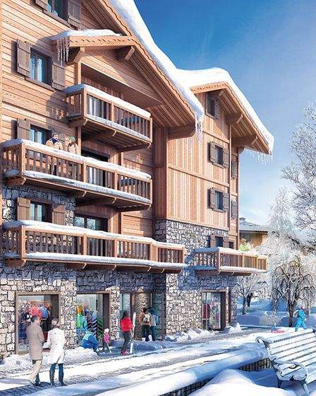 This computer-generated image shows how Les Chalets de Laÿssia in Samoëns will look in winter