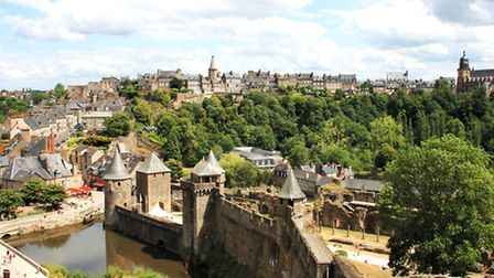 View of Fougères from the castle © Patricia Stoughton