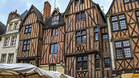 Medieval buildings in Place Plumereau in Tours, © Dreamstime