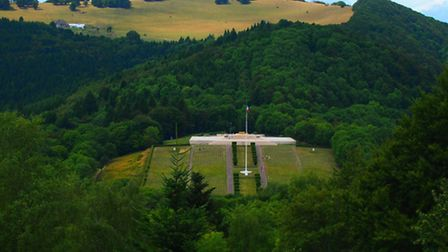 The cemetery and museum at Vieil-Armand in the Vosges mountains