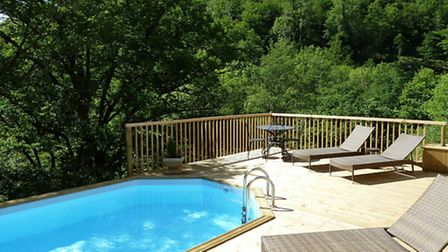 The swimming pool is a popular attraction and its sundeck gets plenty of use