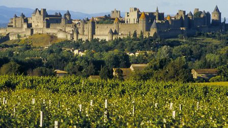 The 12th-century castle in Carcassonne