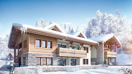 This computer-generated image shows how MGM's Chalet Hannah in the Chamonix Valley will look
