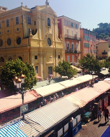 Nice's Cours Saleya hosts a fabulous fruit, vegetable and flower market every day except Monday