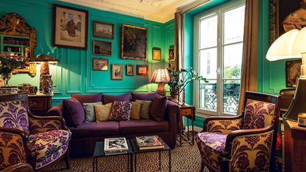 Inside Les 3 Chambres hotel in Paris