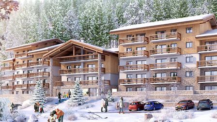 This computer-generated image shows how Chalet Les Marmottons in La Rosière will look when the devel