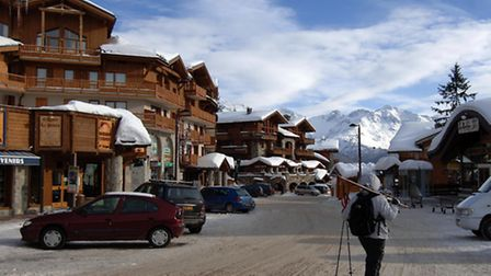 A view of sunny south-facing La Rosière where, at an altitude of 1,850 metres, snow is guaranteed th