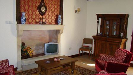 Side view of the living room