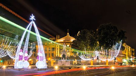Place Masséna decorated for Christmas, © Dreamstime