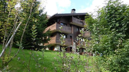 Tessa and Michael's apartment building in Les Houches, which they bought off-plan