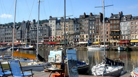 The harbour of Honfleur marina