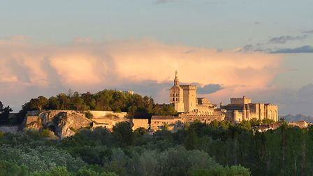 This view of the Nôtre Dame des Doms and Palais is enjoyed from a large home at Villeneuve-lès-Avign