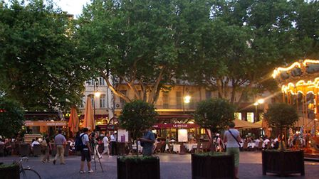 The Place de l'Horloge is a great spot for a coffee