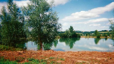 One of the property's two lakes, set in 44 hectares of grounds