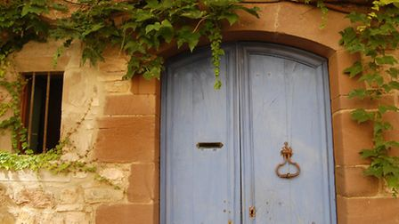 A colourful doorway