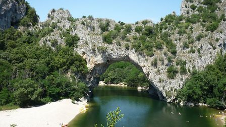 The Pont d'Arc, a magnificent natural bridge marking the start of the gorges, is a true emblem of Ar