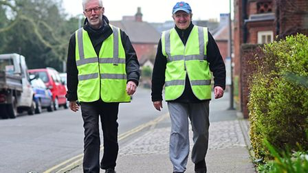 Active Norfolk walking group members Laurie Rainger, left, and Barry Tapp.Picture: ANTONY KELLY