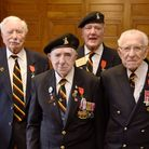 Veterans from the 1st Batallion Royal Norfolk Regiment at the ceremony at Norwich City Hall to recei