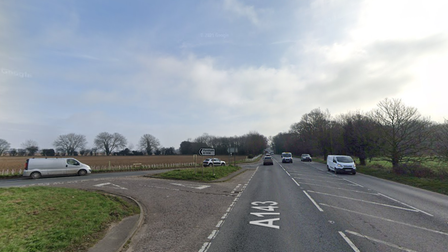 The crash happened near the Mill Road junction on the A143