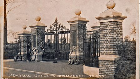 A historic view of the memorial gates