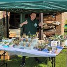 Owner and founder of Succulents by Samuel, Sam Bayfield, at one of the Norfolk events he attended.
