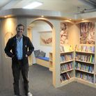 Author, Robert Macfarlane (pictured) opened Wilburton CE Primary School's new library on September 17