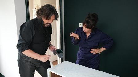 Presenters Anna Richardson and Laurence Llewelyn-Bowen came to Suffolk for the Channel 4 show