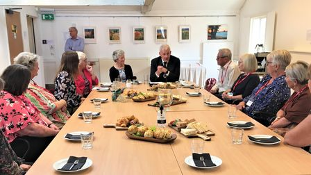 High Sheriff of Suffolk Edward Creasey visiting volunteers with Bungay Community Support.