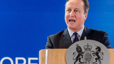 British Prime Minister David Cameron addresses the media after an EU summit in Brussels (AP Photo/Ge