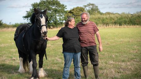Jo Henderson and Andrew Pratt are in the process of converting their land into a community farm. Th