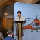 HRH The Princess Royal addresses guests at Magpas Air Ambulance's Future 50 Appeal launch event