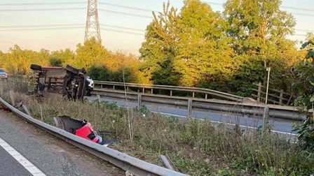 Lucky escape for driver on A11 tonight