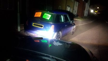 The Mini was seized by police in Stowmarket