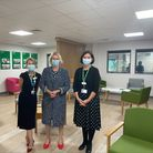 Jane Farrell, Vicky Ford MP andLisa Villiersin the new chemotherapy treatment centre at Broomfield Hospital, Essex