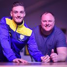 Matty Castellan, pictured here with manager (R) Gary Setchell, has signed an 18-month contract at Ki