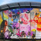 The new 40ft mural at Bethnal Green's Rich Mix arts centre