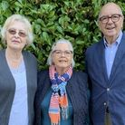 From L to R:Sue Parry,Susan Riddle and David Riddle from Fakenham Society