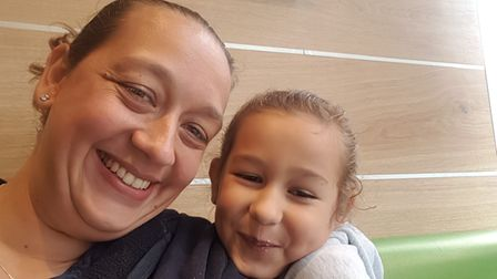 Nicola Habrouk, from Toftwood, with her daughter, Zara