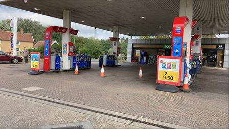The Esso garage in Poplar Hill, Stowmarket has been closed