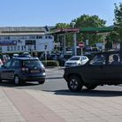 Queues forming outside the Asda fuelling station in Stowmarket