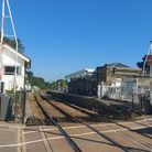 Saxmundham station on a sunny day when it was reopened