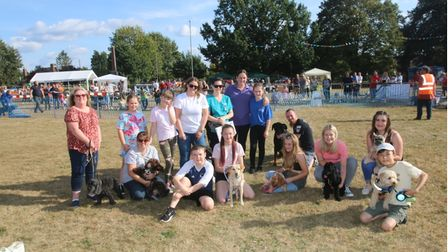 Ella Stanier (pictured middle) with the rest of the award winners from the Coates fete.