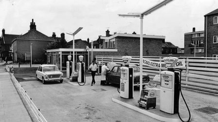 A general view of the Grove service station. Date: Jul 1964 - archive garages