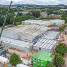 Exeter's NHS Nightingale hospital under construction